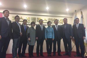정세균 국회의장, 동포간담회 이어 LA한인회 방문