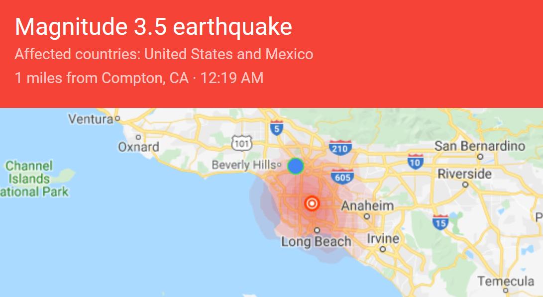 LA 인근 규모 3.7~3.8 지진 잇달아…8.0 강진 가능성도 제기