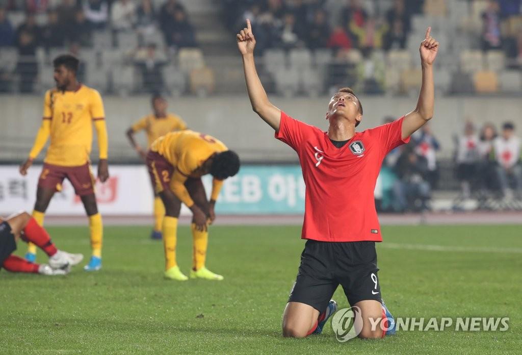 '김신욱 4골+손흥민 멀티골' 한국, 스리랑카에 8-0 대승