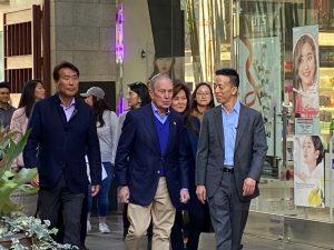 마이클 블룸버그 후보 오늘 K타운  마당 몰 방문