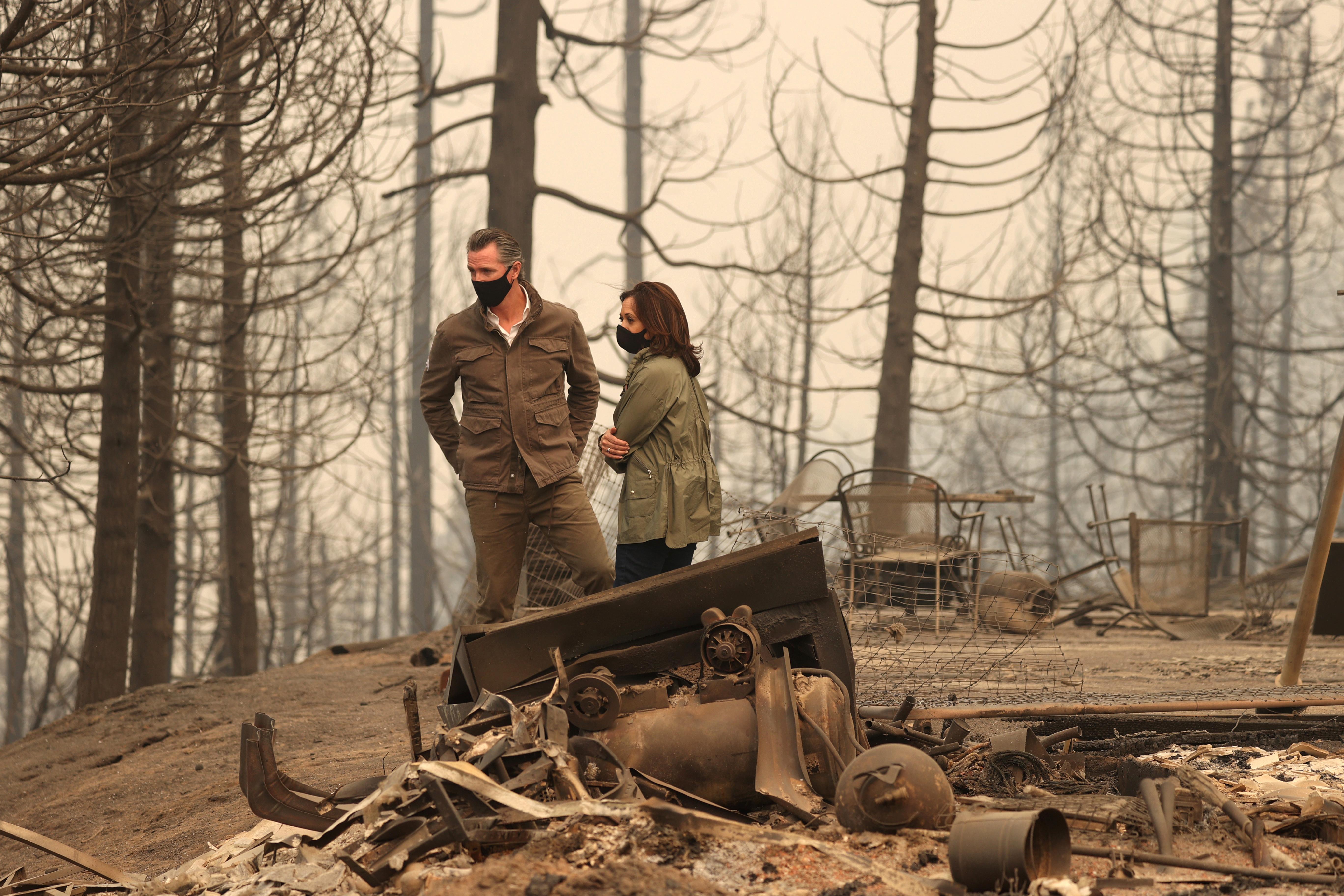 '불난 집에서 사진 촬영' 해리스 후보에 산불 이재민 가족 분통